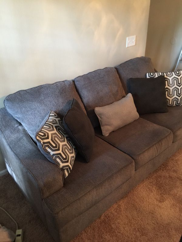 Remarkable Ashley Gilmer Sofa And Loveseat Gunmetal Grey Fabric Retail Pdpeps Interior Chair Design Pdpepsorg