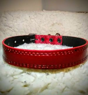 """Sterling Red 100% Leather """"Dog Collar"""" for Sale in Glendora, CA"""