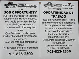 LOOKING FOR A GREAT JOB???? for Sale in Alexandria, VA