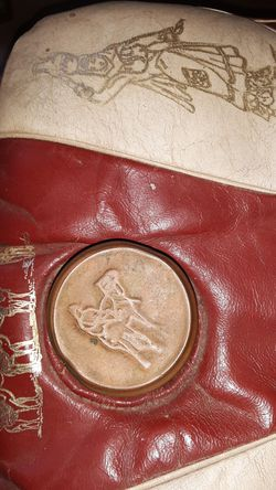 Vintage Camel Saddle Stool Thumbnail