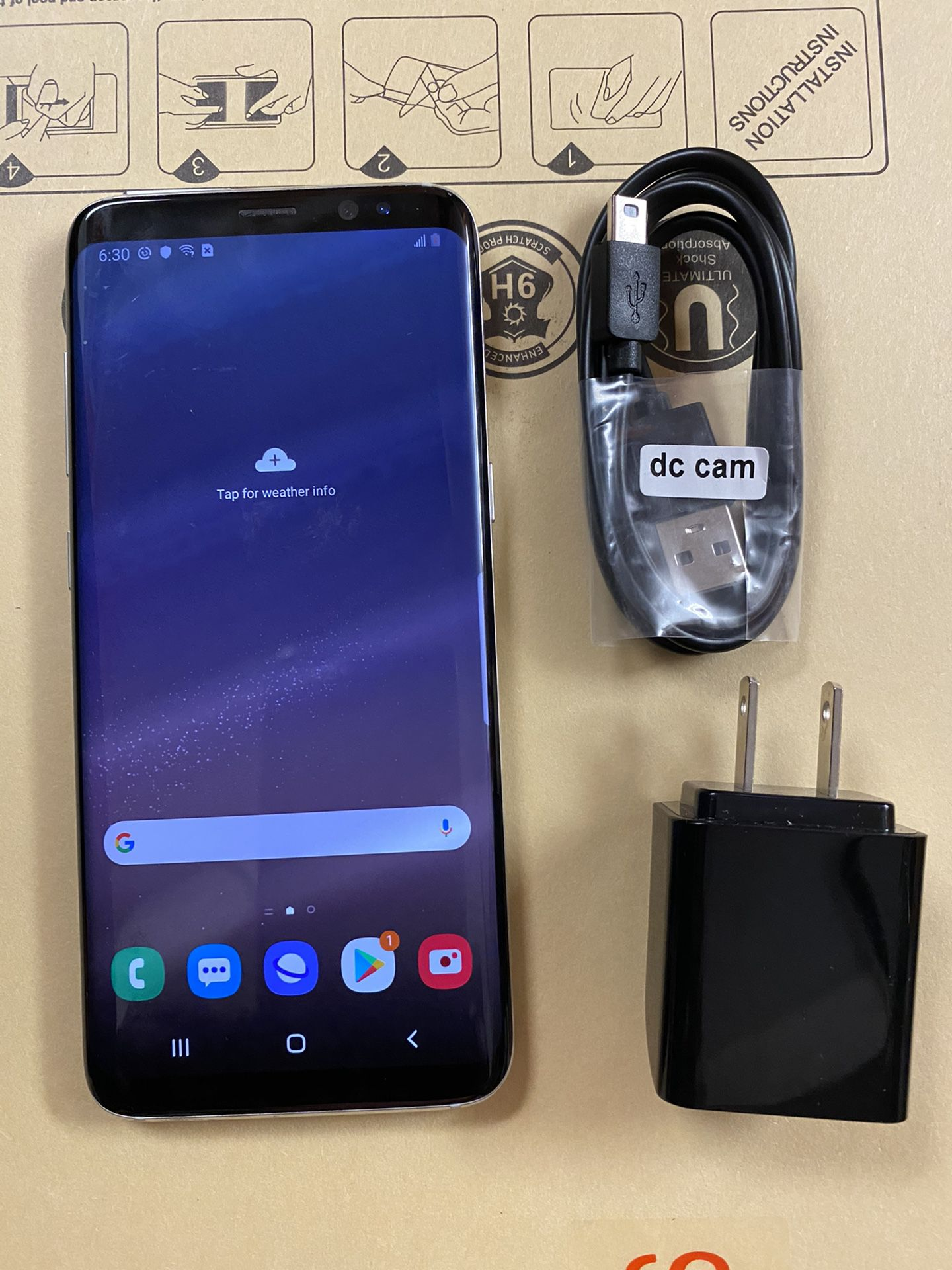 Samsung galaxy s8 unlocked,sold with store warranty