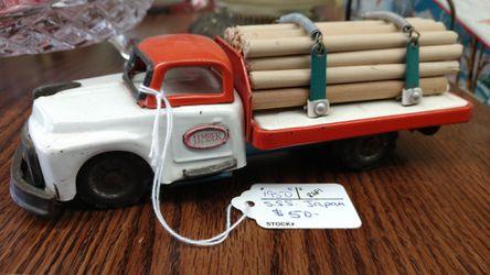 Vintage 1950s lumber truck toy Thumbnail