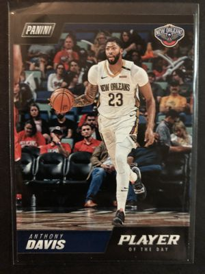 Photo Anthony Davis 2018-19 Panini Basketball Card Player of the Day. Anthony Davis New Orleans Pelicans Basketball Trading Card