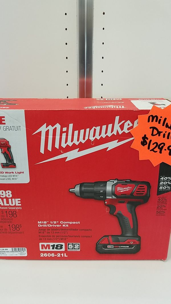 Milwaukee Cordless Drill 2606 21l Gp3015617 For Sale In Glendale Az