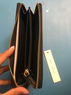 Marc Jacobs Black Leather Wallet Thumbnail