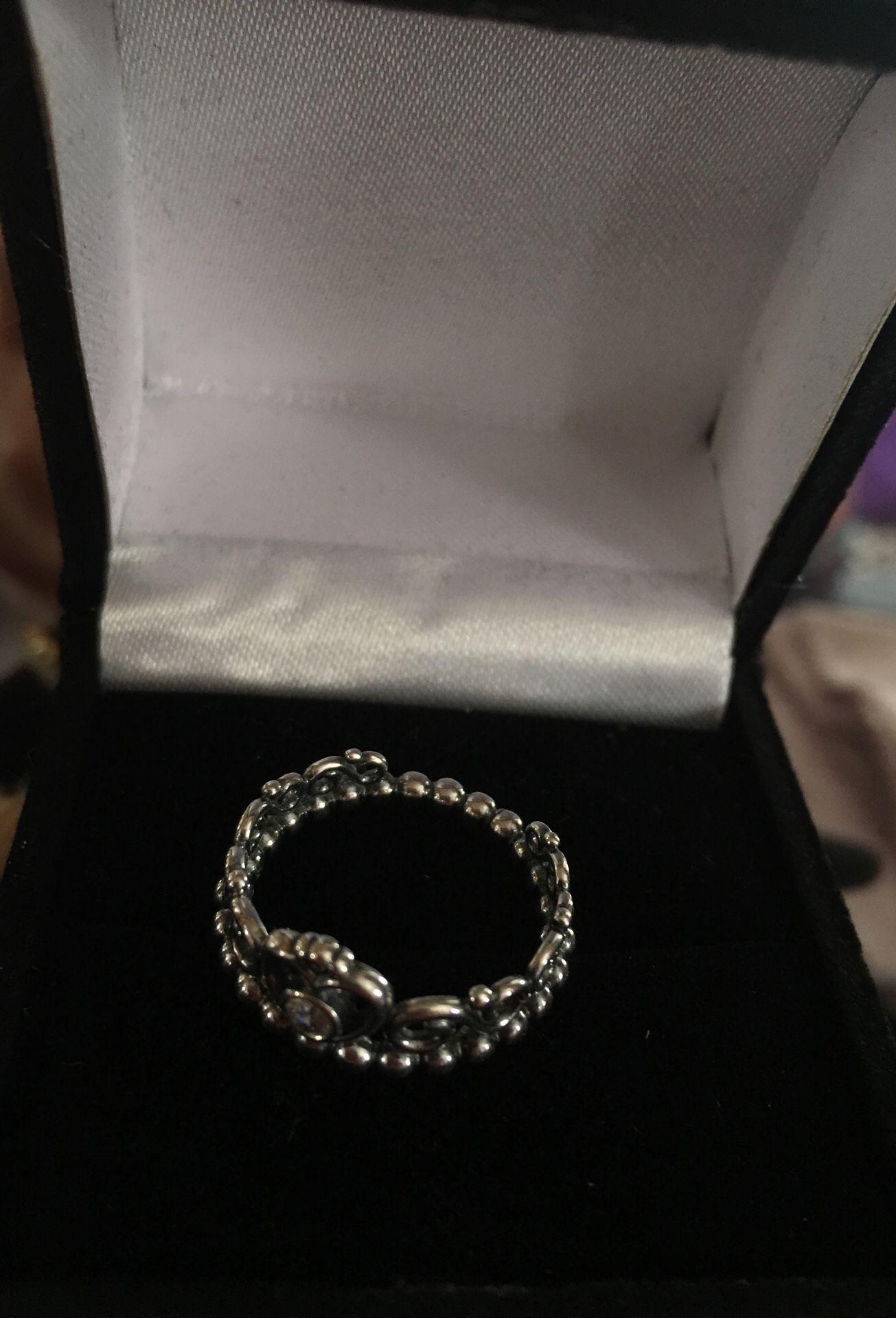 Pandora silver crown ring size 6