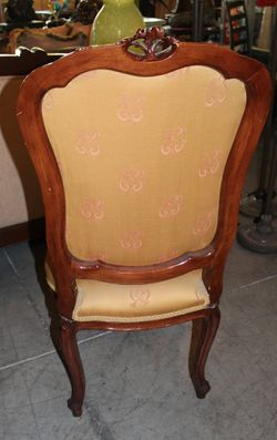 Antique Carved Wood Chair Thumbnail