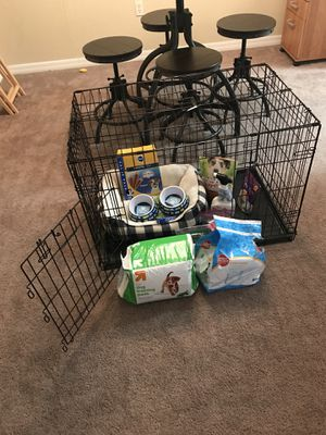 Dog Crate and Necessities for Sale in Leesburg, FL