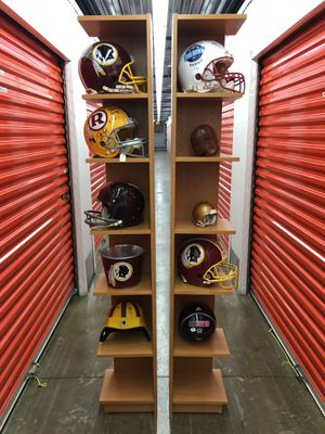 Nice display stands $105 HELMETS NOT INCLUDED!! for Sale in Montgomery Village, MD