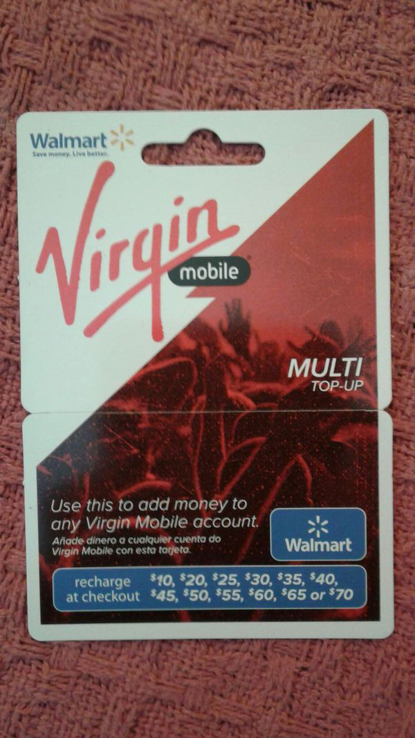 $70 top up card for virgin mobile for $30 for Sale in Pleasanton, CA -  OfferUp