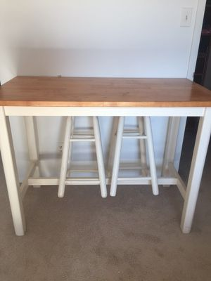 Table and 2 stools for Sale in Bethesda, MD