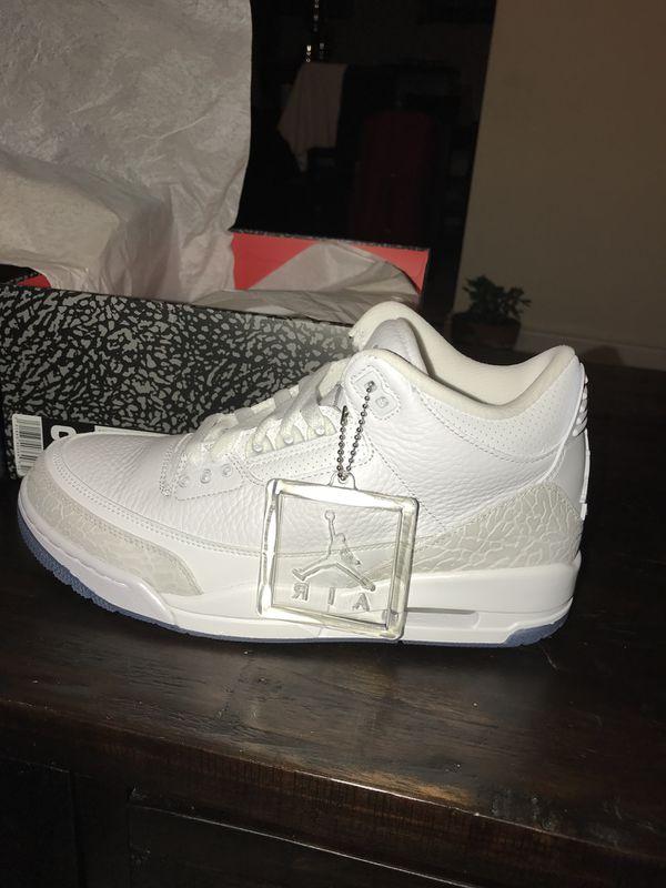 81db47fb715 Jordan 3 pure white for Sale in Wallington