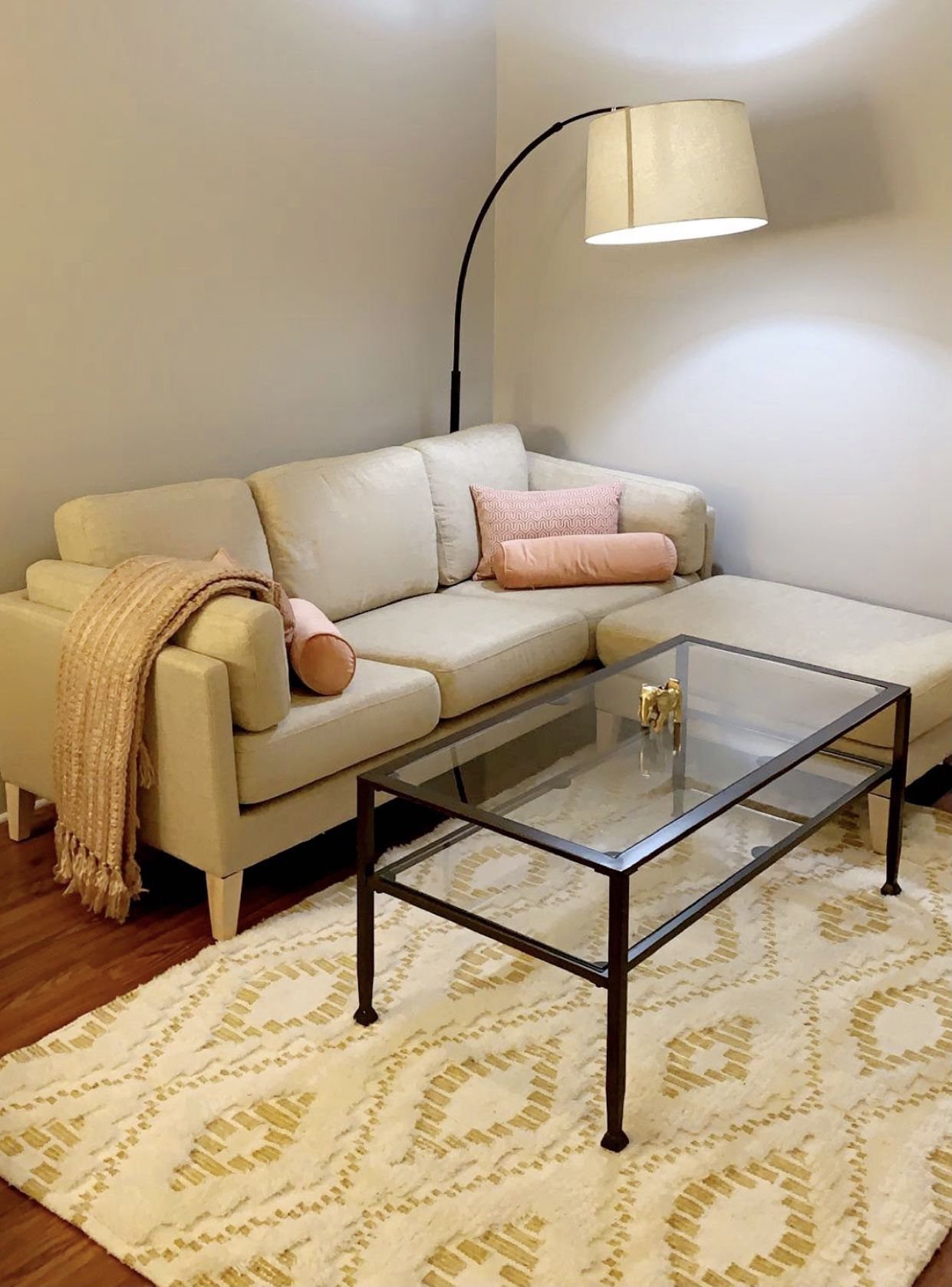 Sofa/couch with matching ottoman