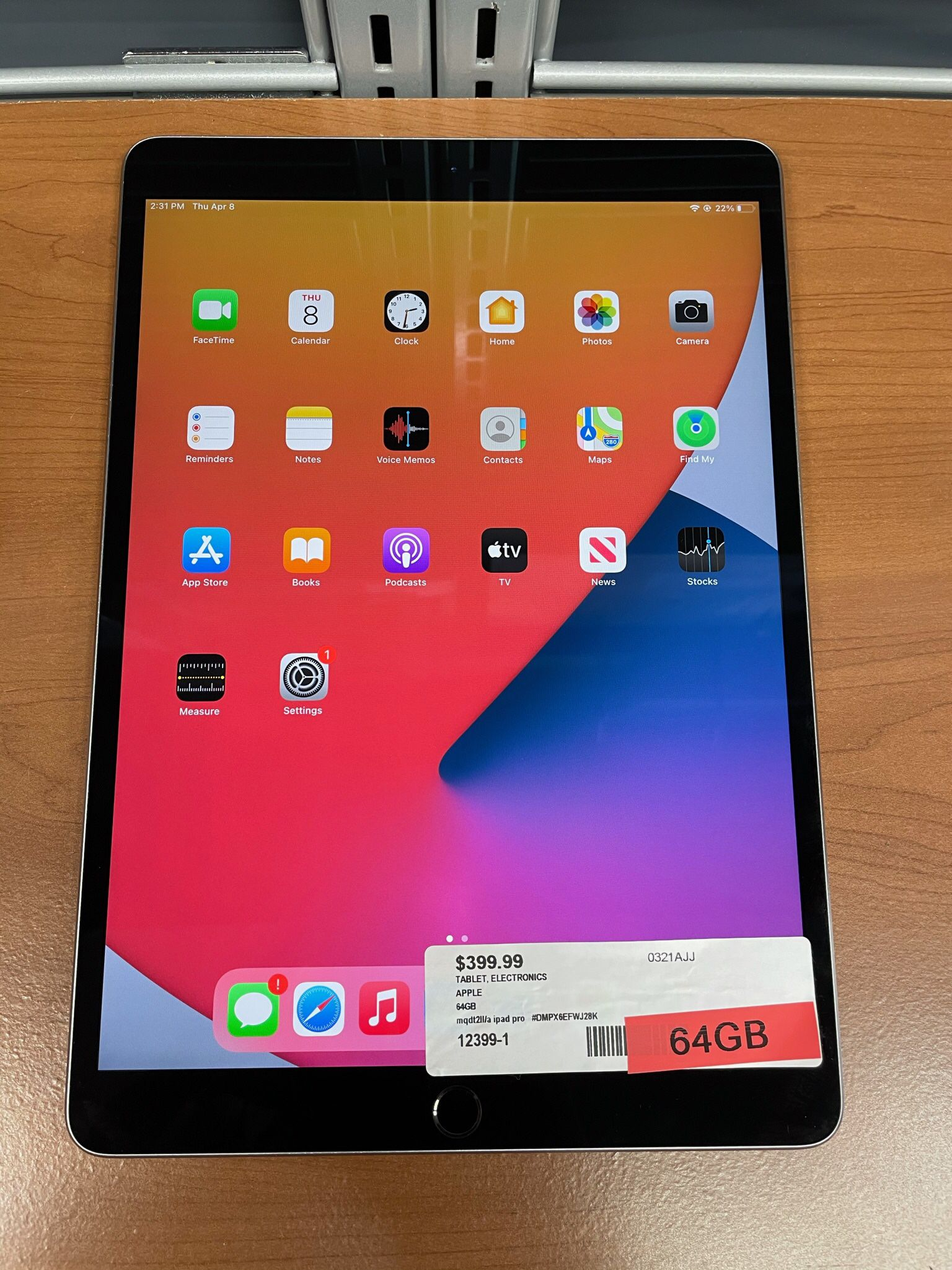 Apple iPad Pro MQDT2LL/A  64GB Tablet