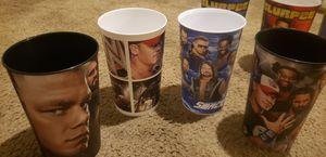 Photo Lot of WWE PRO WRESTLING CUPS. RAW SMACKDOWN CENA KOFI NEW DAY MIZ
