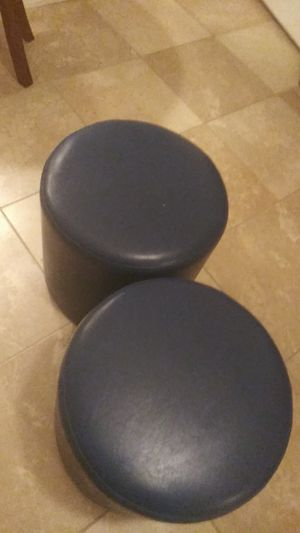 Pair of blue foot stools for Sale in Belle Isle, FL