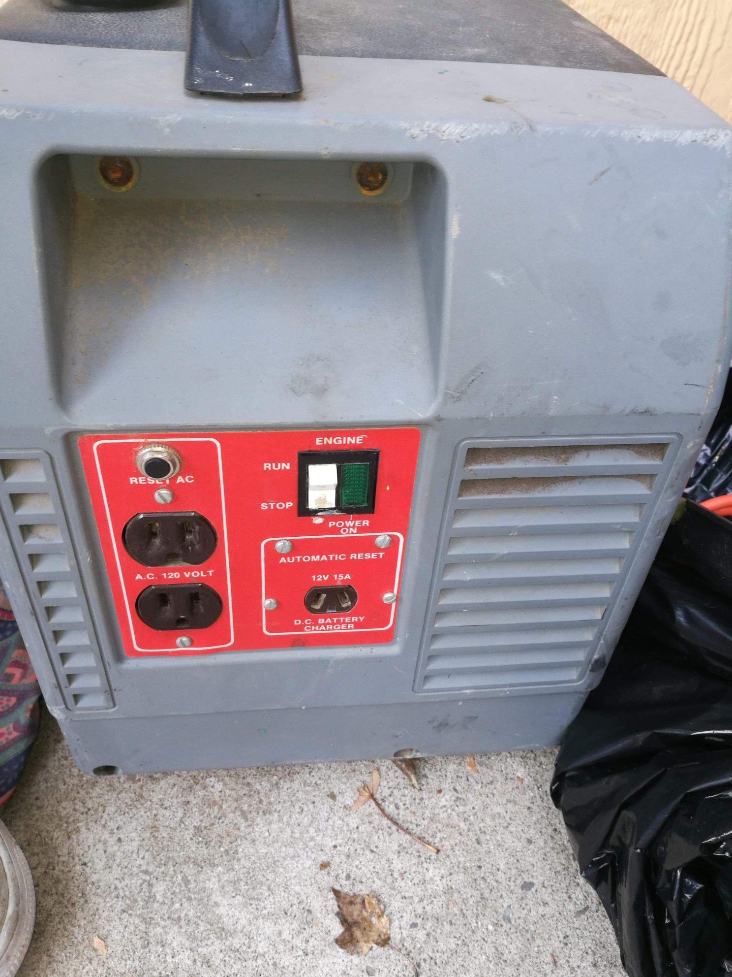 Photo Coleman powermate pulse plus portable generator 1750