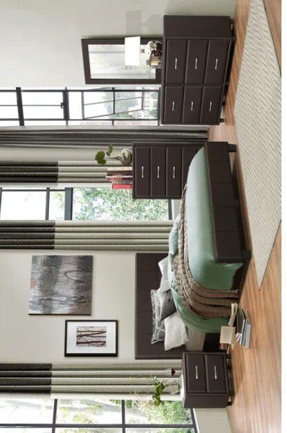 Lorenzi Brown Vinyl Platform Bedroom Set | 2220