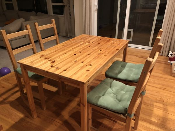 IKEA dining table with 4 chairs for Sale in Renton, WA ...