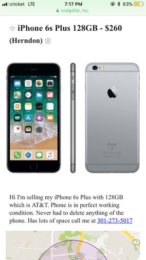 iPhone 6s Plus AT&T 128GB for Sale in Herndon, VA