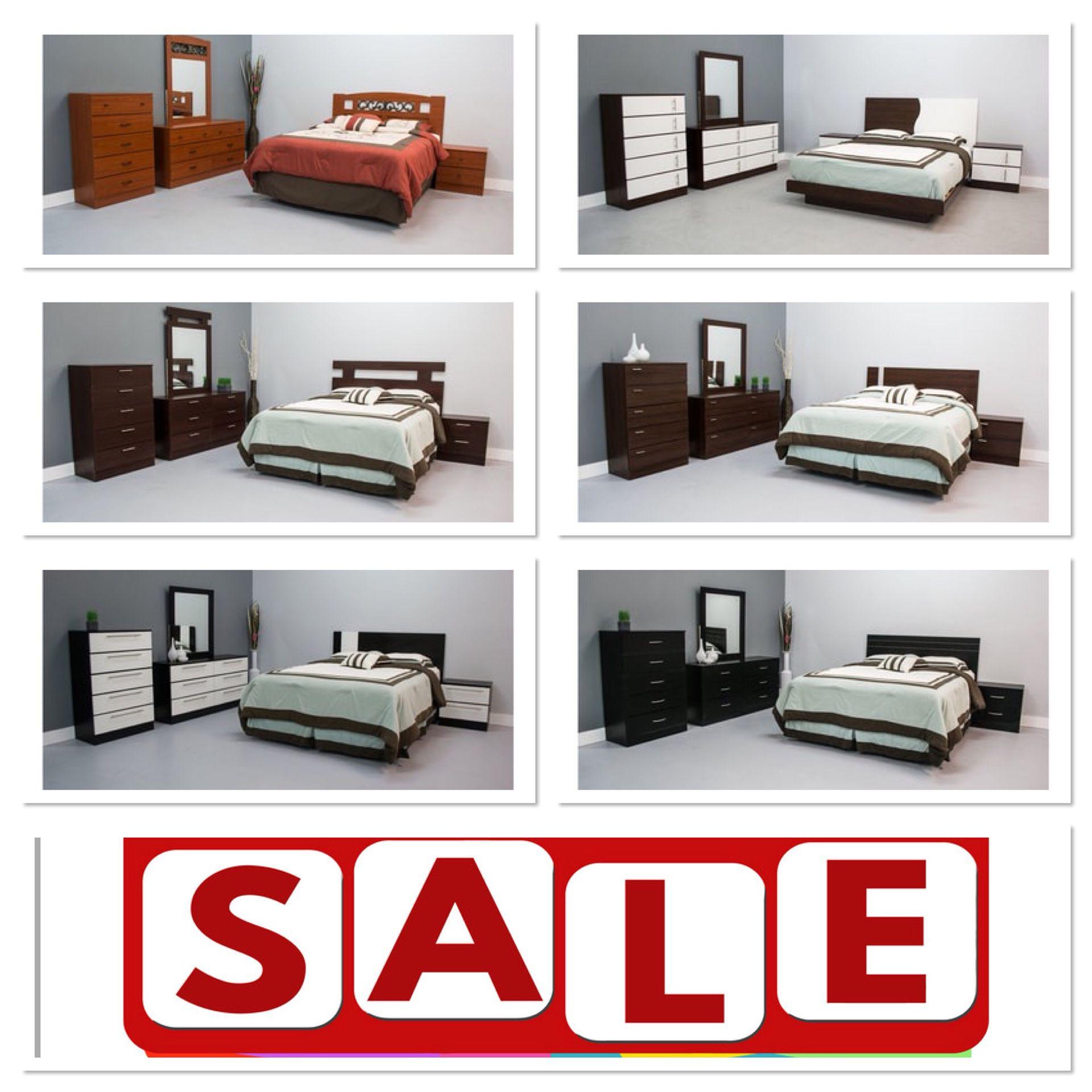 Full or full bedroom set $0 down take it home 5 pcs