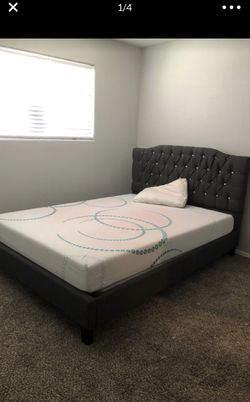 New Bed with head board and bed frames Thumbnail