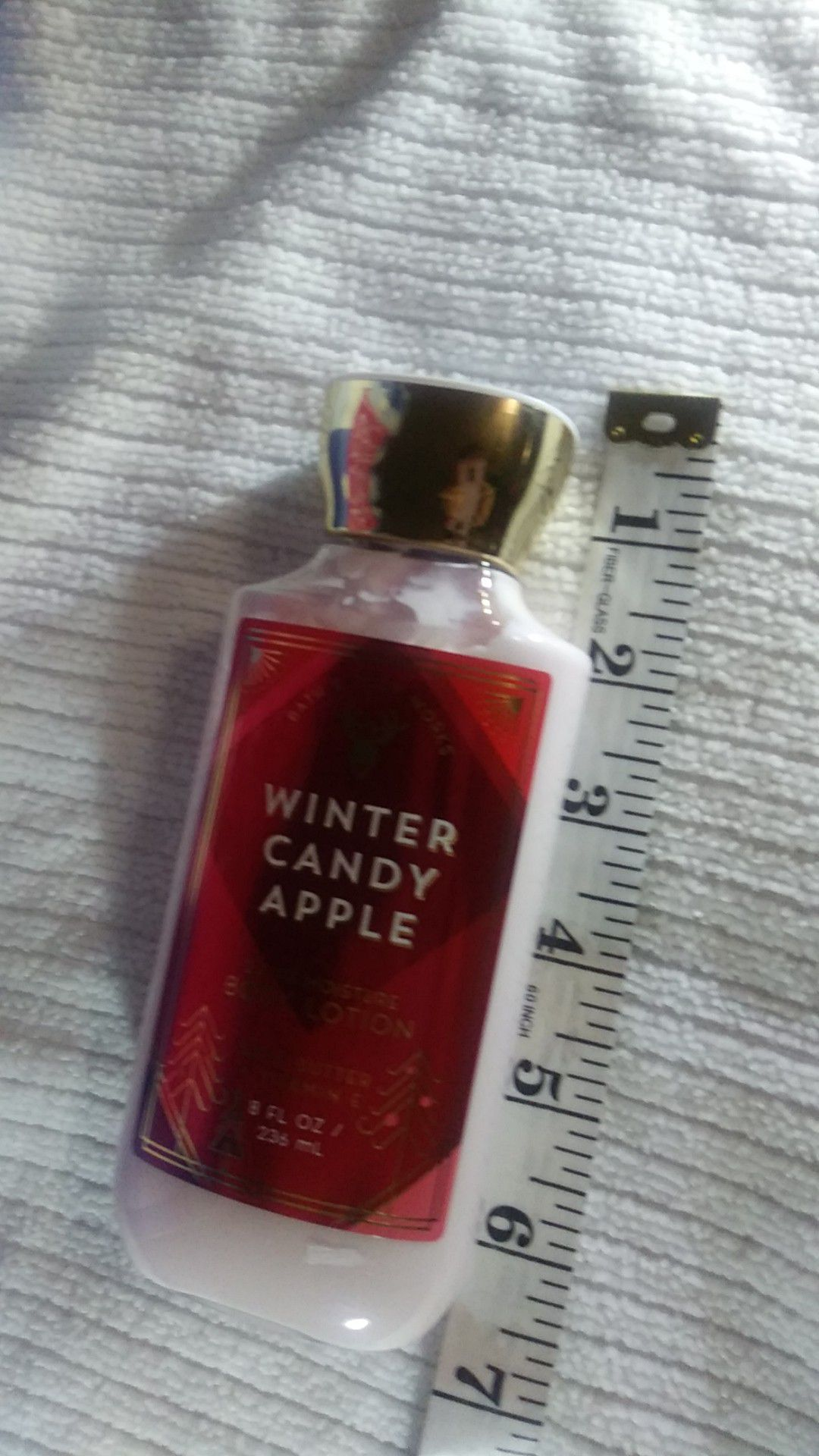 Winter candy apple body lotion 8oz. Bath&bodyworks body cream