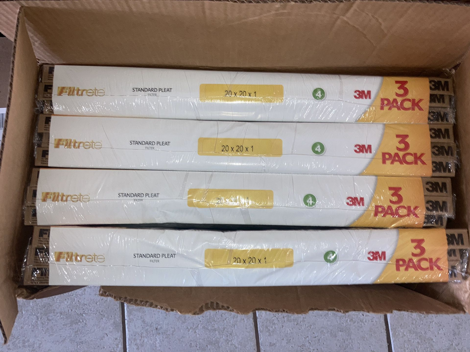 Brand New 3M Air Filters - 20x20 - 4 packs of 3