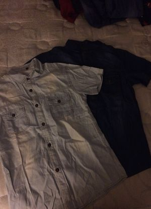 Brand New size S Kria short sleeve denim top .size S for Sale in Frederick, MD