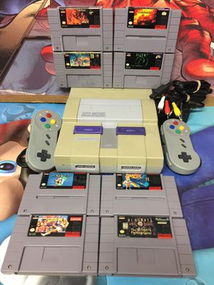 Super Nintendo System + 8+ Games Bundle For Sale *Mario,StarFox,Star Wars,Mortal Kombat etc* for Sale in Austin, TX