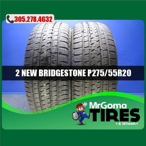 2 NEW 275/55/20 BRIDGESTONE DUELER H/L ALENZA M+S TIRES DODGE FORD 111S 2755520