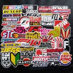 JDM Racing Car Logo Waterproof Stickers 100pc Thumbnail
