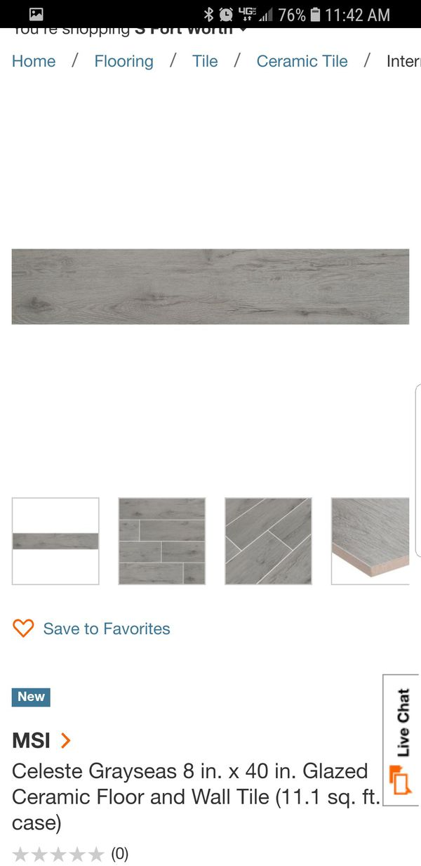 Gray Wood Like Porcelain Tile For Sale In Fort Worth Tx Offerup