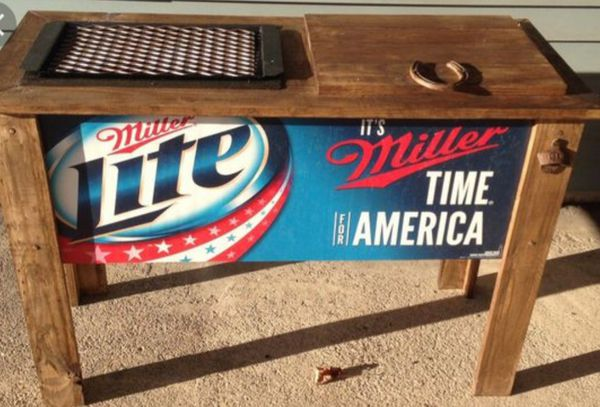 Miller Lite Wooden Coolergrill For Sale In Plainfield Il Offerup