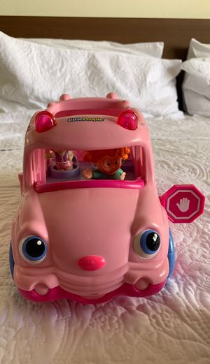 Photo Fisher price little people school bus pink