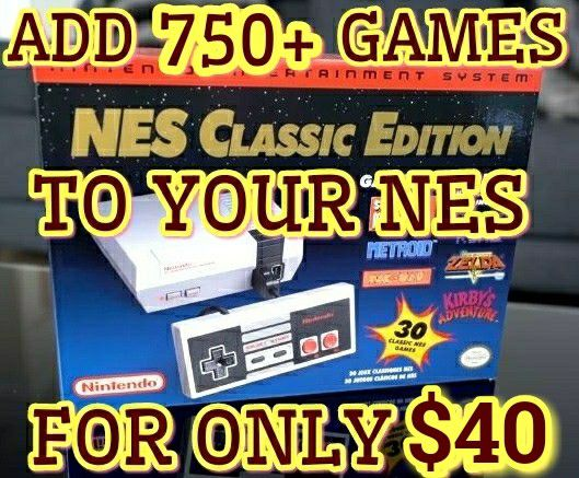 NES Classic Edition 750 + GAMES MODDING MODDED MOD Nintendo + RESET & TURBO  - $40 (Palatine) SNES for Sale in Palatine, IL - OfferUp