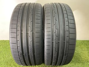Photo T111 255 40 21 Continental SportContact 6 - 2 used tires 255/40R21