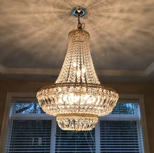 Photo Large Vintage glass chandelier