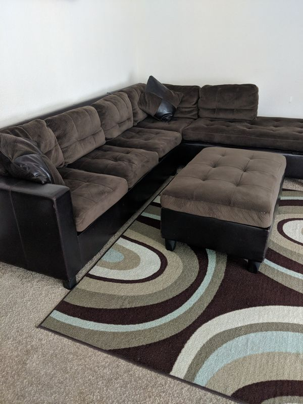 Amazing Walter E E Smithe Sectional With Ottoman Furniture In Dailytribune Chair Design For Home Dailytribuneorg