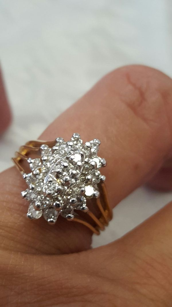 ba83e8d317b Vintage 14k sold yellow gold. 75 tcw diamond ring 6.0 for Sale in ...