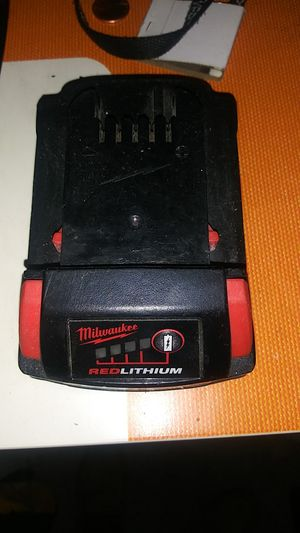 Mikwaukee red lithuim battery for Sale in Woodlawn, MD