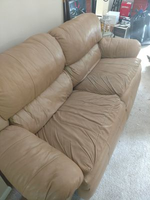 Leather recliner couch for Sale in Reston, VA