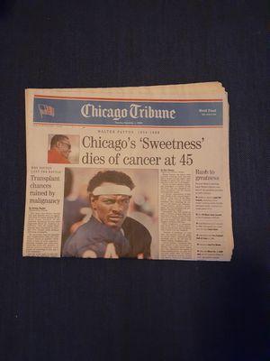 Photo Chicago Sun Times November 2nd 1999 Walter Payton