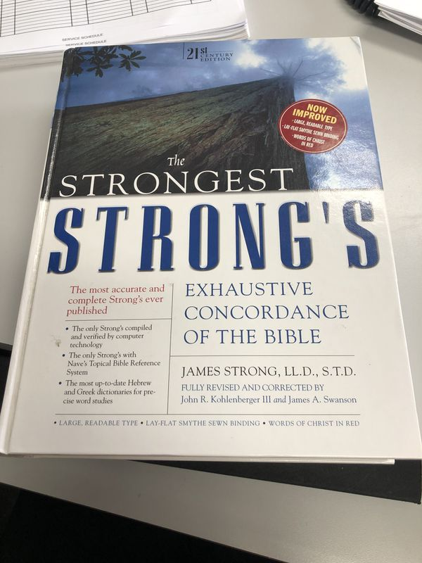 New The Strongest Strong's Concordance of the Bible for Sale in Rancho  Cucamonga, CA - OfferUp