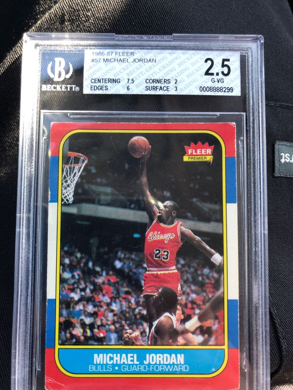 1986 Fleer Michael Jordan Rookie Card Graded For Sale In Wichita Ks Offerup