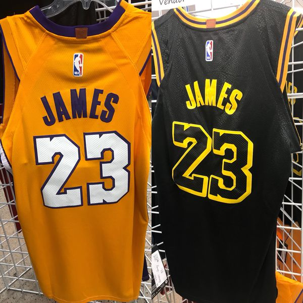 low priced 9c0fa 2d2f1 NEW Los Angeles Lakers Lebron Jersey XL Large XXL 2XL Black & yellow for  Sale in Albuquerque, NM - OfferUp