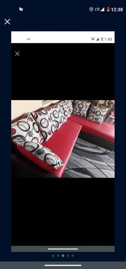 SOFA MODERN In L SHAPPE.. DELIVERY SERVICE AVAILABLE Thumbnail