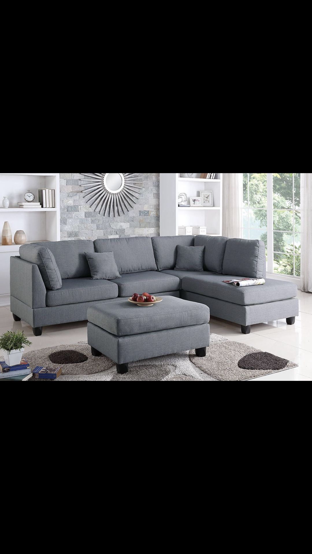 Sectional With Free Ottoman