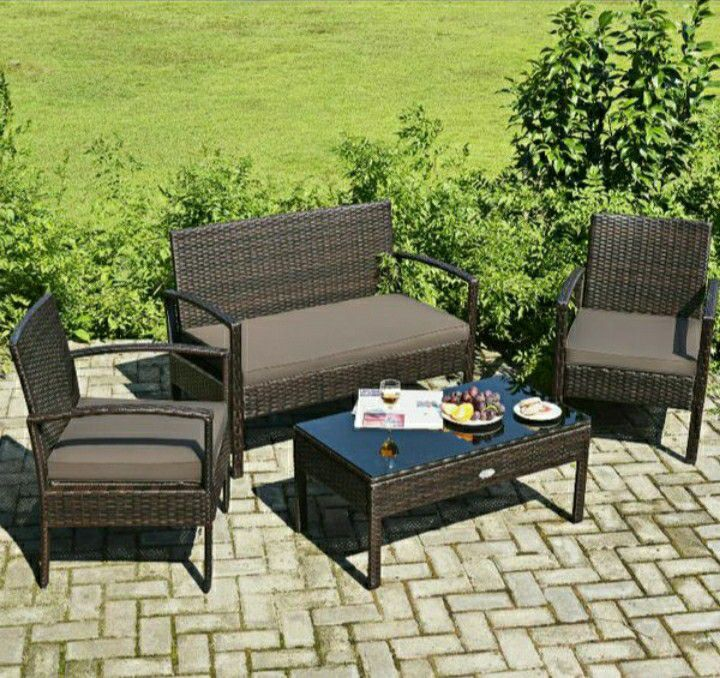 Brand new 4-piece patio furniture/ patio furniture set/outdoor furniture/muebles de patio/outdoor furniture sets. *SAME DAY DELIVERY*
