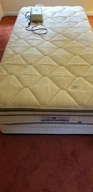 Twin sleep number bed and box spring. Never used for Sale in Sykesville, MD
